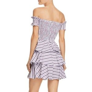 Lucy Paris Dresses - Lucy Paris Gemma Off-the-Shoulder Striped Dress